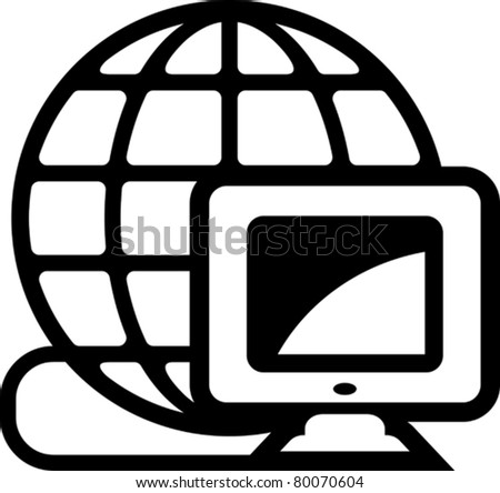 Global computer net (Vector)