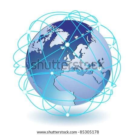 Global connection icon eps8