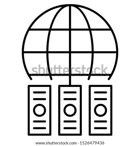 Global Data Center Server colocation Vector Icon Design Foto stock ©