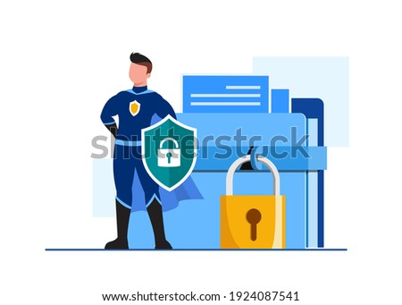 Global data security, personal data security, cyber data security online concept illustration, Internet security or information privacy - protection idea, software access data confidential, abstract