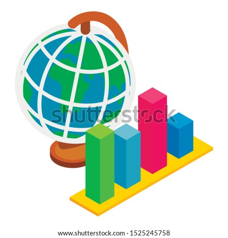 Global dynamics icon. Isometric illustration of global dynamics vector icon for web