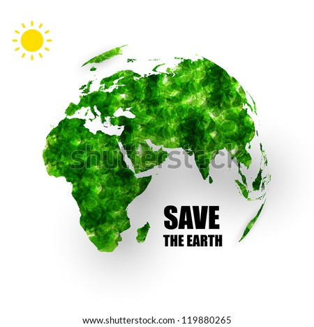 global earth ecology concept
