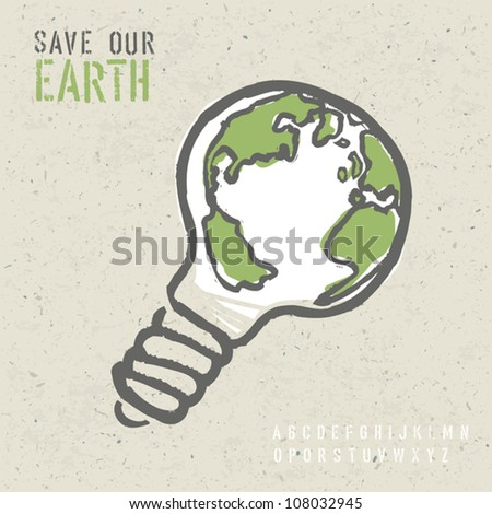 Global ecology concept. Vector, EPS10
