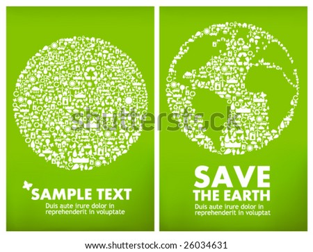 global ecology - sustainable development concept - stock vector