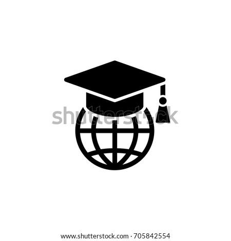 global education simple black icon