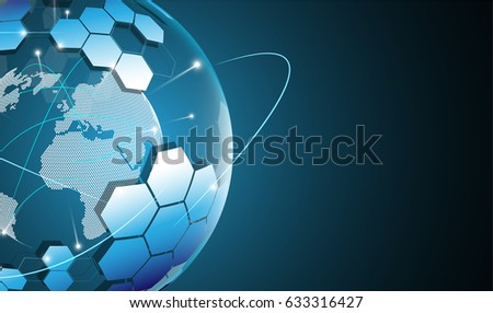 global internet networking hi tech innovation concept background