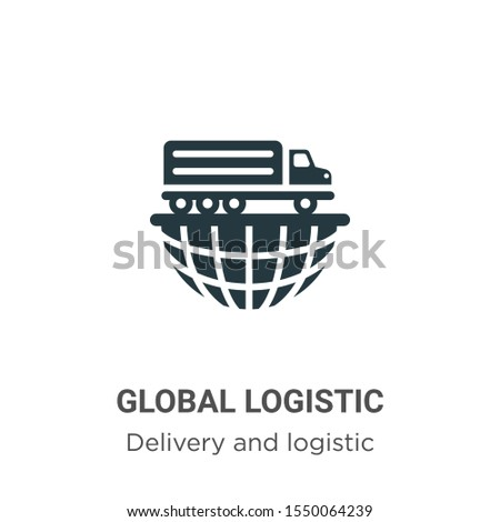 Global logistic vector icon on white background. Flat vector global logistic icon symbol sign from modern delivery and logistics collection for mobile concept and web apps design.