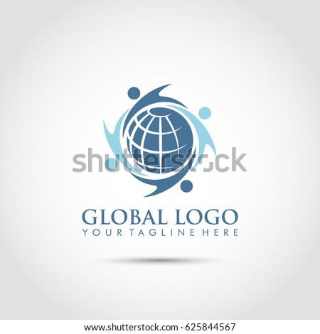 Global Logo Design. Vector Illustrator Eps. 10