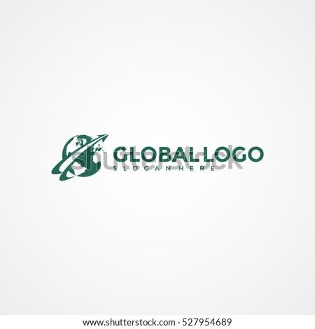 Global logo template. Vector Illustration Eps.10