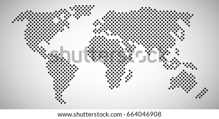 Global map dotted