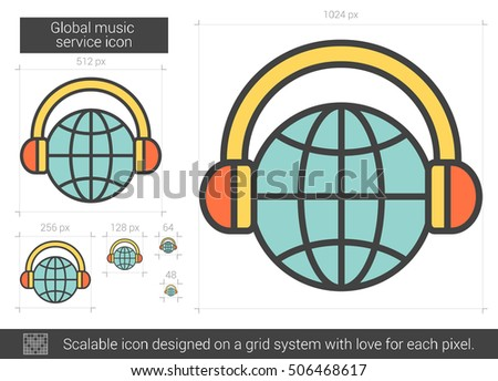 global music service vector