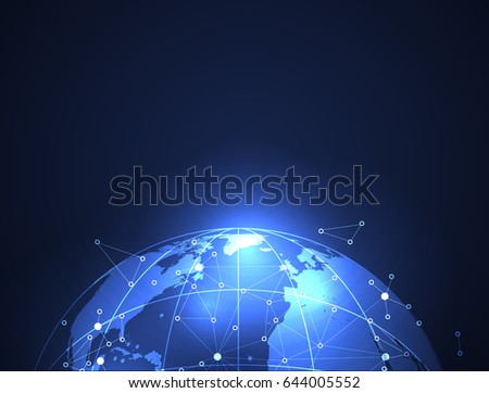 Global network background business from concepts series.