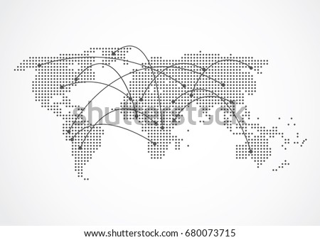 Mapas del mundo vectores de diseo planos descargue grficos y global network connection world map point and line composition concept of global business vector gumiabroncs Gallery