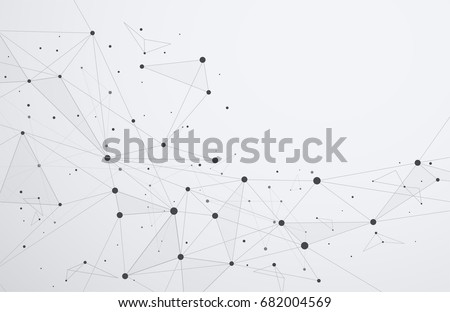 Global network connections with points and lines. Wireframe of n