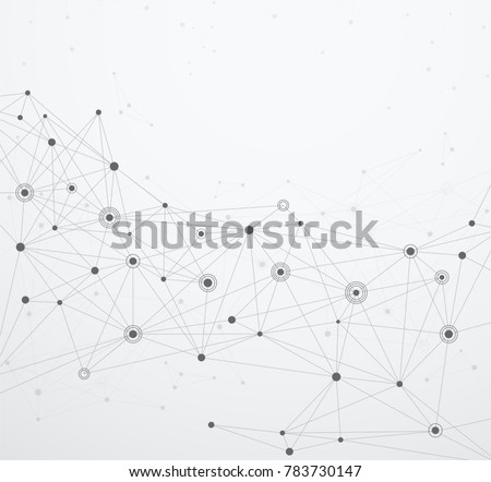 Global network connections with points and lines. Wireframe of network communications.