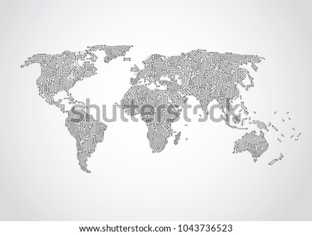 Drawing Lines In Mappoint : Abstract technology network lines background download free