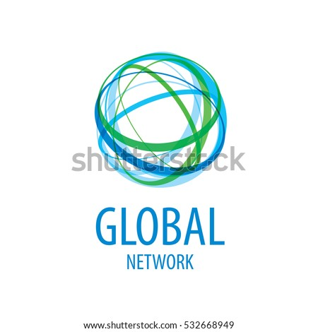 global network logo vector