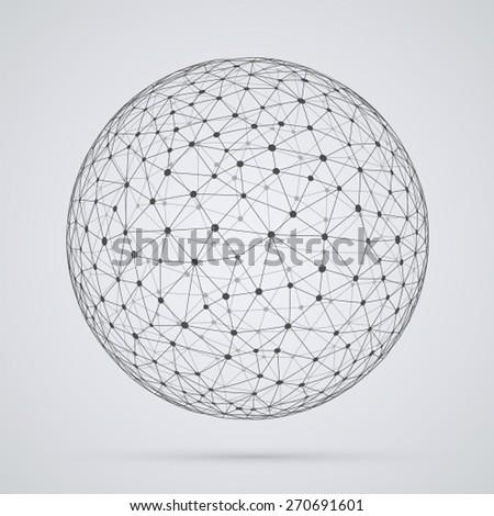 global  network  sphere....