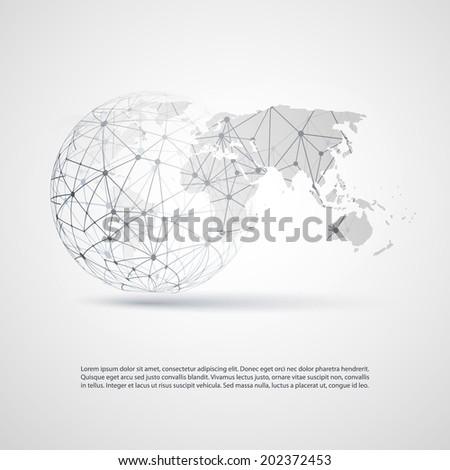 global networks   eps 10 vector