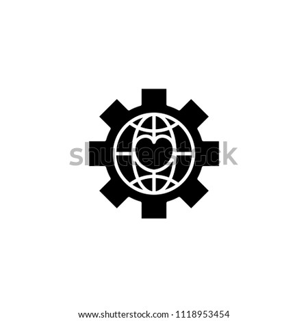 Global npo black icon concept. Global npo flat  vector symbol, sign, illustration.