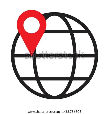 global pointer icon. flat illustration of global pointer. vector icon. global pointer sign symbol