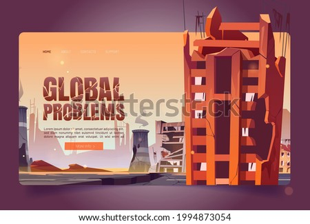 global problems cartoon web