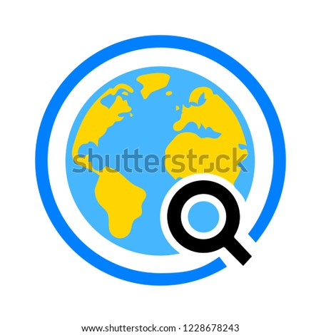 Global search sign icon. World globe symbol