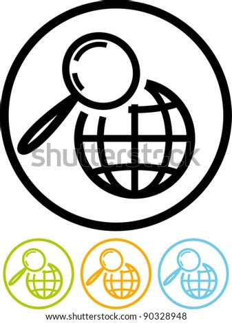 Global search - Vector icon isolated on white