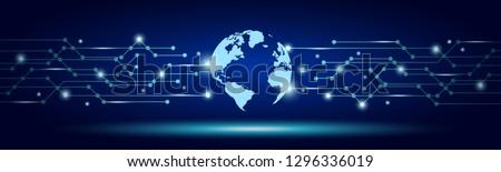 global tech concept  network