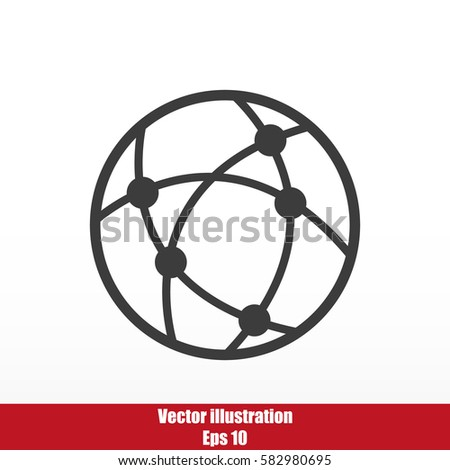 Global technology or social network vector icon