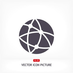 Global technology or social network  Vector icon 10 EPS