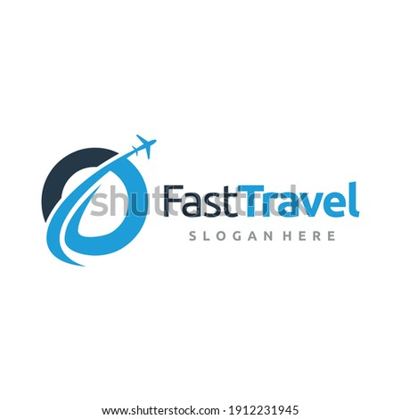 Global travel and tour logo design vector. Foto stock ©