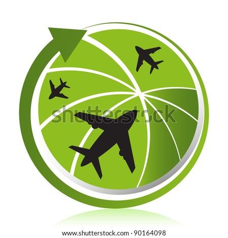 Global travel design concept.