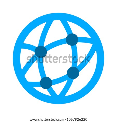 global world icon, vector globe symbol - earth planet isolated