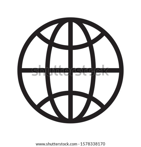 Global, Worldwide internet Web Icon isolated on white background EPS Vector