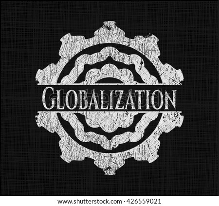 Globalization chalk emblem