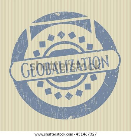 Globalization grunge seal