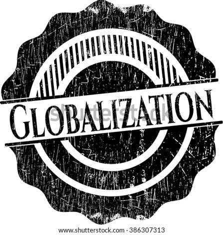 Globalization grunge stamp