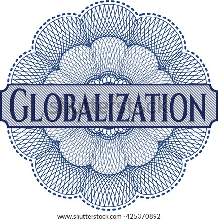 Globalization written inside abstract linear rosette
