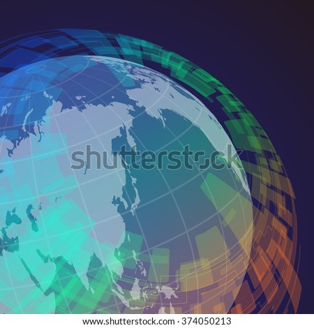 globe and world map  abstract