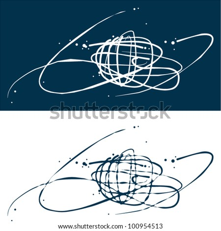 Globe background. Travel style. - stock vector