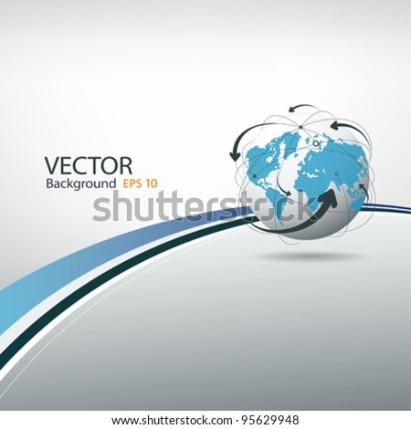 Globe connections concept design, vector illustration