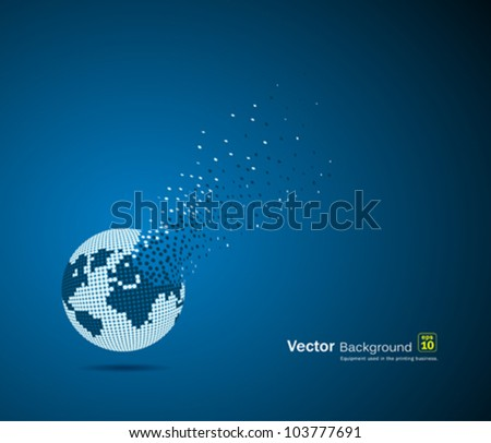 Globe design, vector illustration