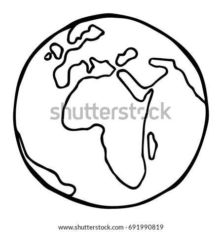 Globe. Earth. Planet Earth. Vector illustration.