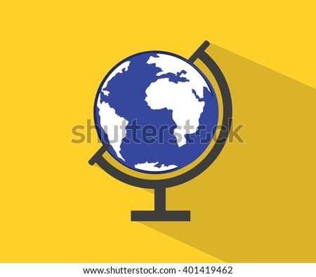 Free earth globe vector flat icons download free vector art globe flat icon vector world travel map gumiabroncs Gallery