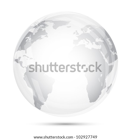 globe glass isolated on white