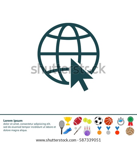 Globe (go to web) icon. Vector design