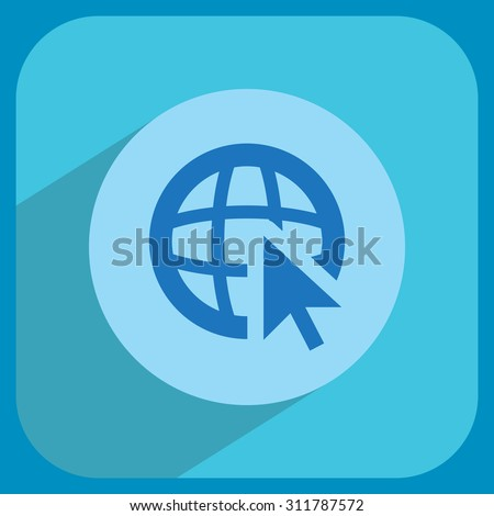 Globe (go to web), web icon. Vector design