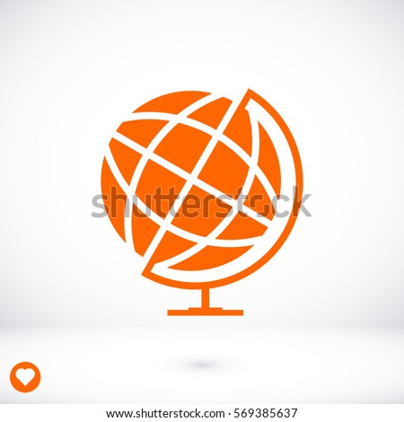 globe icon, vector best flat icon, EPS