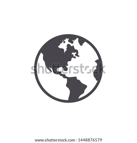 Globe Icon Vector. Flat Icon
